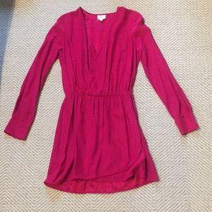Long sleeve pink Parker dress